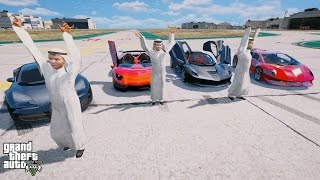 Rich Kids of Dubai Race With The Most Expensive SuperCars In The World! (GTA 5 Prince of Dubai Mod)