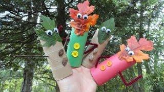 Детская поделка - Лесные человечки.