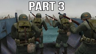 Medal of Honor Allied Assault Gameplay Walkthrough Part 3 - Normandy D-Day