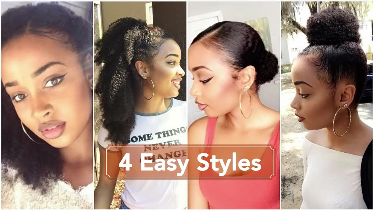 How To 4 Easy Summer Protective Styles For Kinky Curly Natural Hair Westindieray Youtube