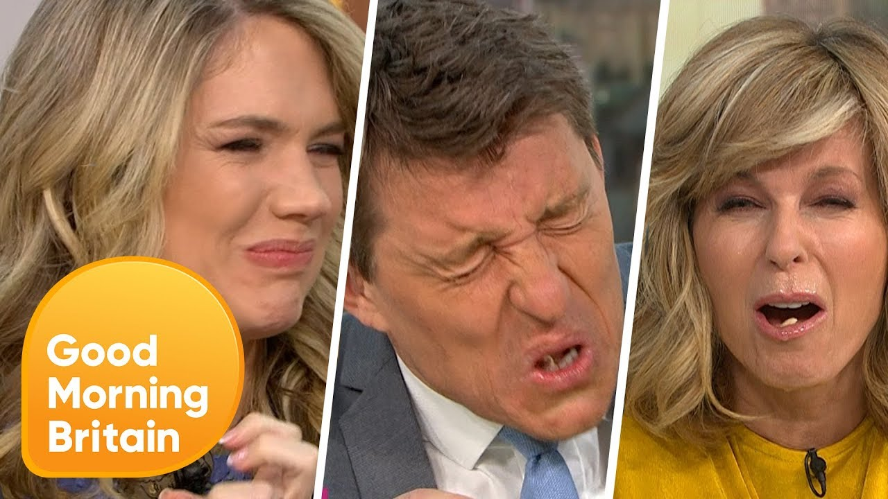Kate Makes A Mess Doing The Lemon Face Challenge | Good Morning Britain