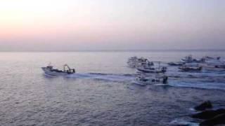 Sortida de les barques d'arrossegament de Palamós
