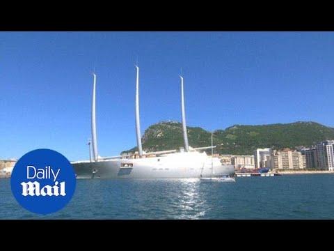 Russian billionaire's $300 million megayacht docked in Gibraltar - Daily Mail