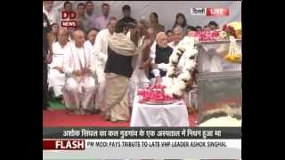PM pays tribute to late VHP leader Ashok Singhal