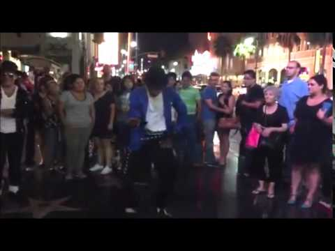 Download MJ tribute artist dancing in Hollywood