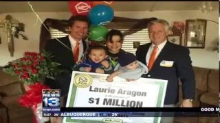 krqe news 13 coverage of 1 million superprize winner laurie aragon