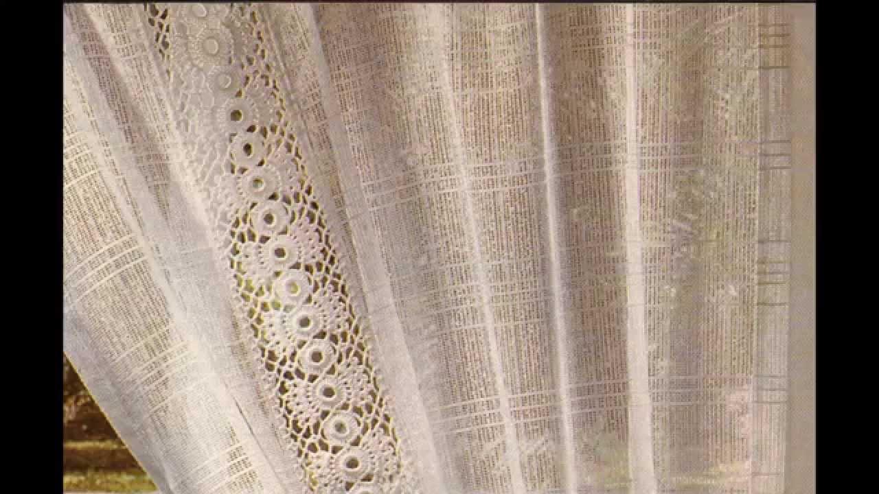 Como hacer visillo entred s a crochet youtube for Como hacer cortinas para cocina