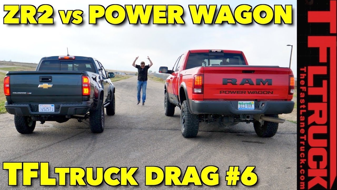 Mid Size Vs Heavy Duty Drag Race Chevy Colorado Zr2 Races Ram Power