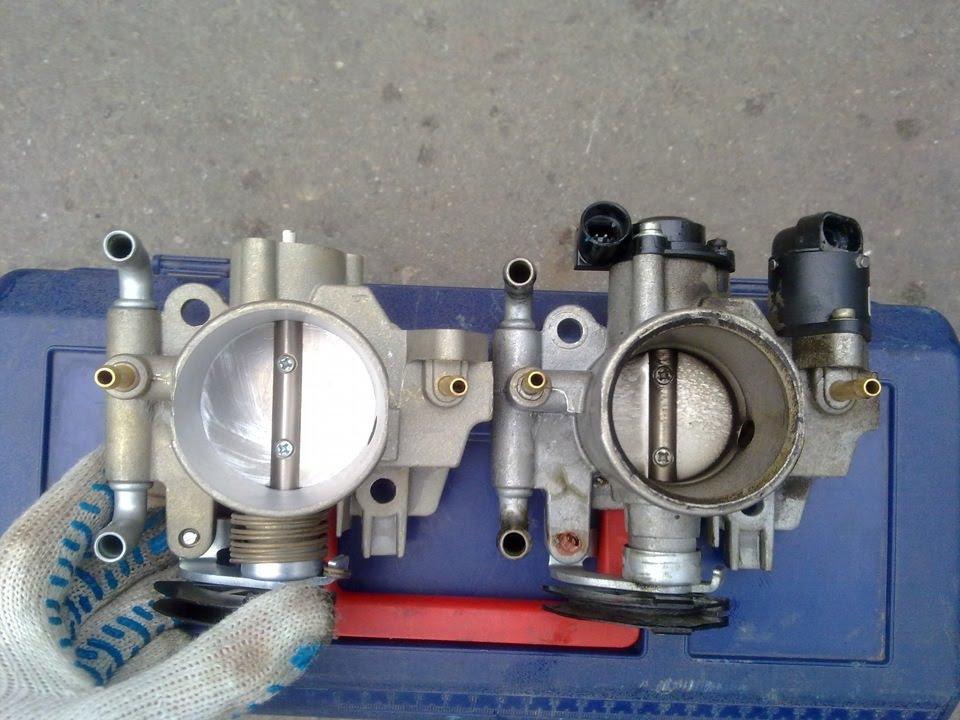 установка 56 го дросселя на ваз 1.6 - 8клп двигатель