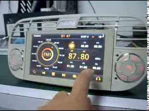 car dvd for fiat 500 with gps tv radio ipod. Black Bedroom Furniture Sets. Home Design Ideas