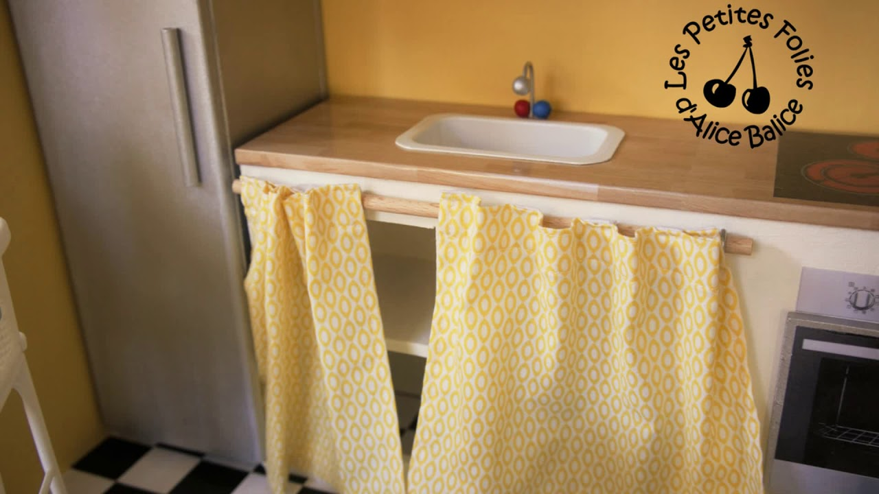 meuble a rideau pour cuisine