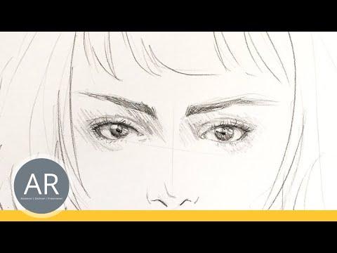 Porträt einfach zeichnen lernen. Gesichter zeichnen. Mappenkurse.