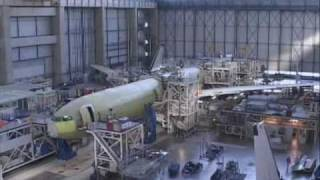 how an aeroplane is built - A340  600