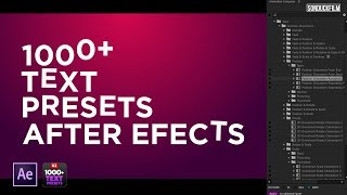 1000+ Text Animation Presets For After Effects | Motion Graphics