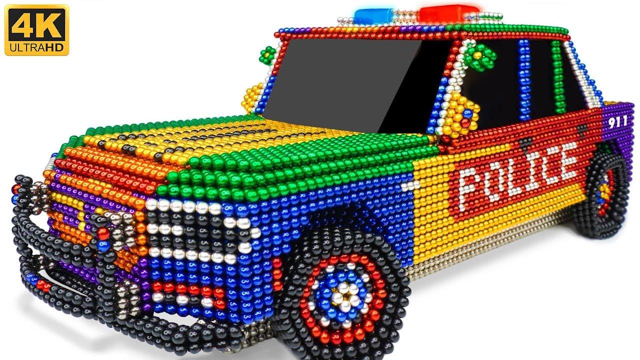 DIY - How To Make Amazing Police Car From Magnetic Balls (Satisfying) | Manget Satisfying