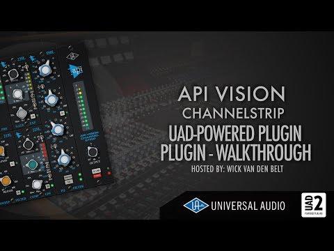 UAD - API vision channelstrip (complete walkthrough)