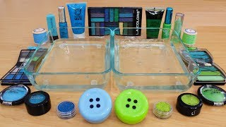 Blue vs Green - Mixing Makeup Eyeshadow Into Slime Special Series 158 Satisfying Slime Video