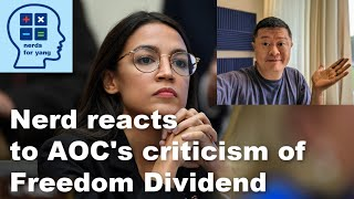 "Is the Freedom Dividend really a ""trojan horse"" (as AOC claims about Yang universal basic income)?"