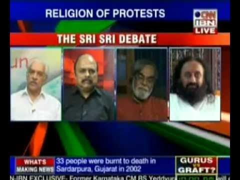 Sagarika Ghose fakes live debate with Sri Sri 's recorded interview!
