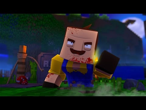 THE NEIGHBOR IS A ZOMBIE? Hello Neighbor! (Minecraft Horror Map)