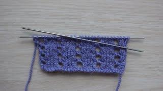 Вязание спицами. Урок 6 - Двойной накид | Yo double spokes