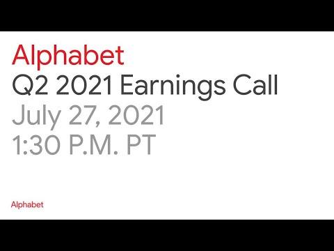 Alphabet Q2 2021 Earnings Call