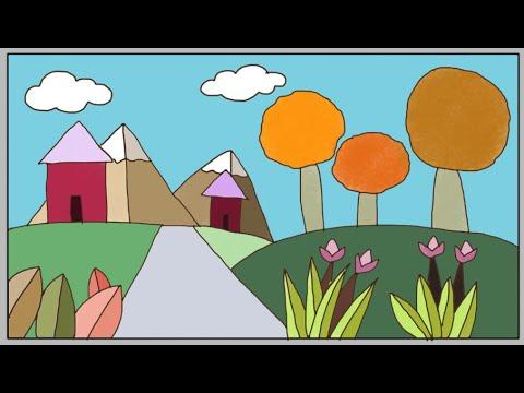 Gampang Bet Menggambar Pemandangan Bunga Cara Menggambar Untuk Anak Sd Kelas 6 Youtube