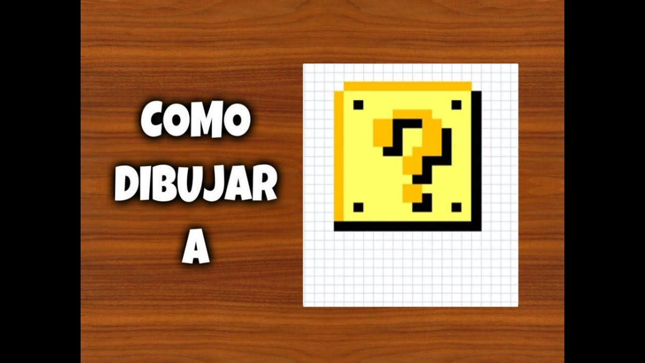 Free Minecraft Pixel Art Mario Block