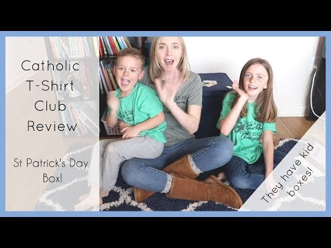 Getting Ready for ST PATRICK's DAY: Catholic T-Shirt Club