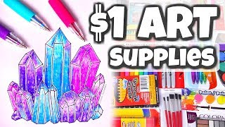1 art supplies challenge   drawing crystals socraftastic