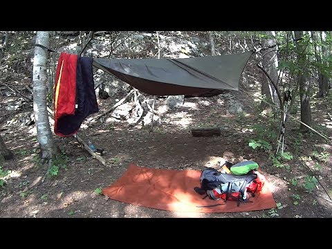 Hammock Camping in Burn Country. Staghorn Sumac Tea and Space Dinner.