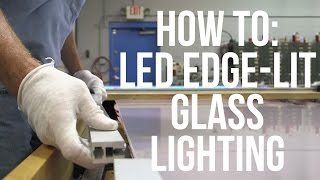 How to Install LED Edge Glass Lighting(EX-ALU series LED edge lit profile made of sturdy aluminium metal for edge lighting glass or plexiglass signs with sandblasting or laser etched graphics and ..., 2014-09-08T13:52:54.000Z)