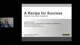Recipe for Success Webinar