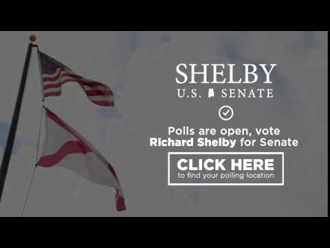 Polls Are Open. Vote for Richard Shelby for U.S. Senate!