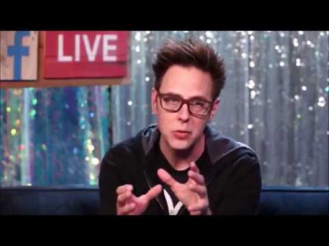 James Gunn writer and director of Guardians of the Galaxy was live on facebook