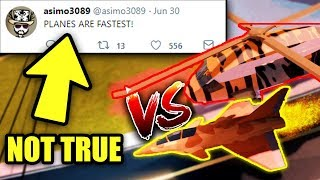 ASIMO3089 LIED ABOUT PLANES... 😭 (Not Fastest Vehicle) | Roblox Jailbreak New Update