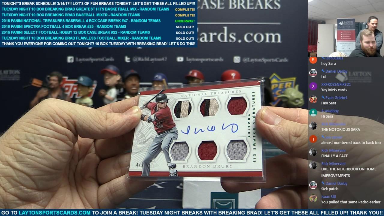 e1f6b38ed04 2016 Panini National Treasures Baseball 4 Box Case Break  47 – RANDOM TEAMS