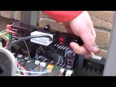 motor wiring diagram basic light switch faac c720 sliding gate operator installation - youtube