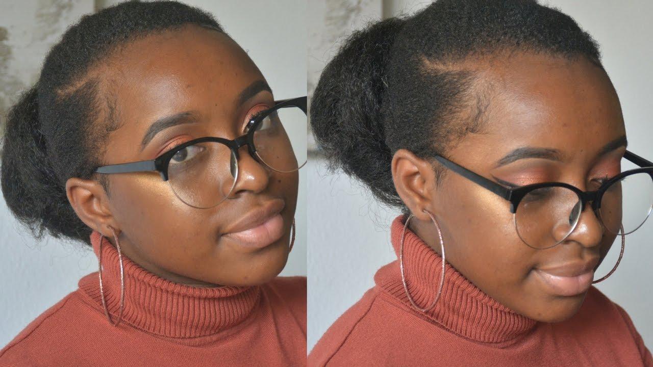 Sleek Bun Tutorial For Natural 4c Hair Fail Youtube