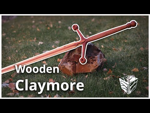 Making a wooden claymore sword.
