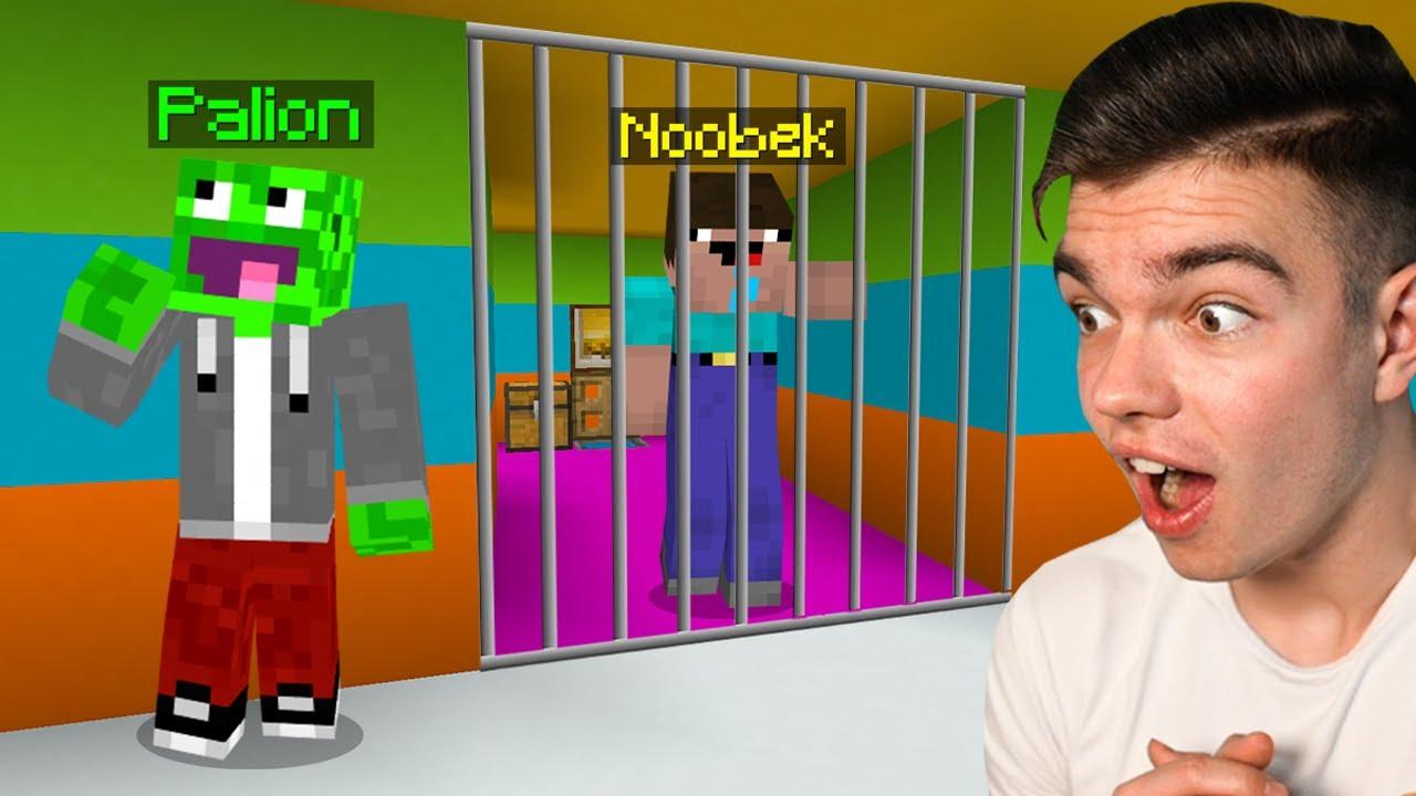 NOOBEK TRAFIŁ DO PRZEDSZKOLNEGO WIĘZIENIA w Minecraft... (przesadził)