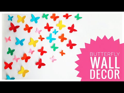 DIY Paper Butterfly Wall Decor | Wall Decor Idea | How To Cut Paper Butterflies | Butterfly Decor 🦋