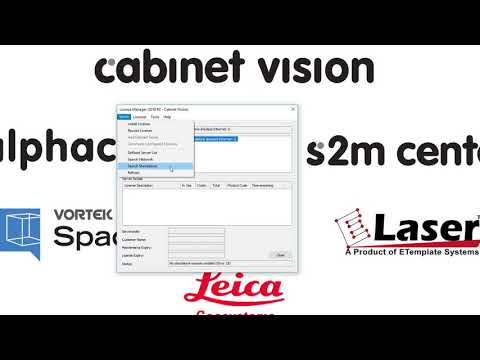 Cabinet Vision Tutorial (Basic 7) - Changing Standalone Licences