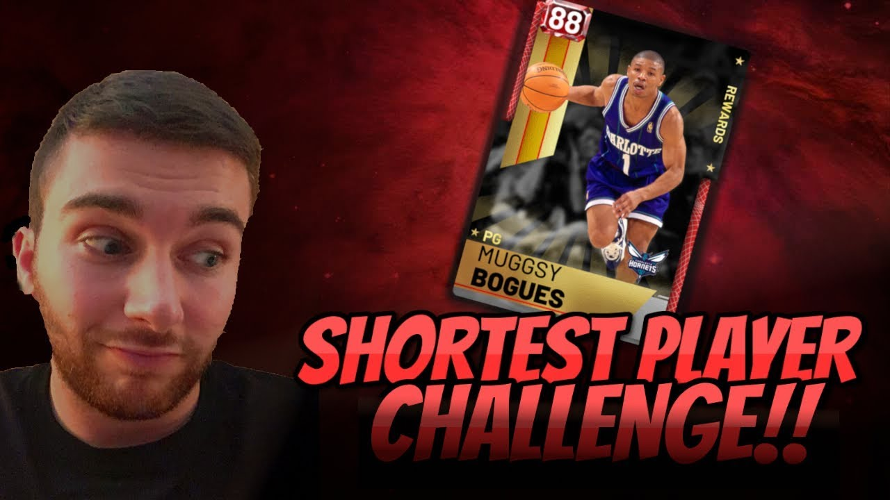 870aa098a NBA 2K19 MYTEAM SHORTEST PLAYER CHALLENGE!! MUGGSY BOGUES LOOKS LIKE A  GLITCH! GREEN LIGHTS LAYUPS !