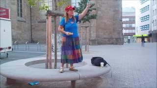 Islam in Germany---USA Woman Street Preacher--Dortmund, Germany