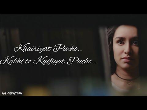 khairiyat-pucho,-kabhi-to-kaifiyat-pucho---chhichhore-|whatsapp-status-vedio-|ag-creations