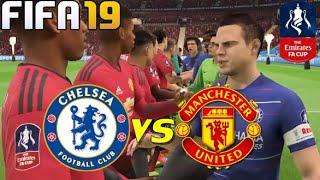 Chelsea vs Man United | FA cup | Round 5 | FIFA 19 | PS4 | gameplay | 18Feb19 @Stamford Bridge
