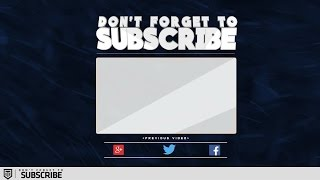 Outro Template for Sony Vegas & After effects |Tronarts