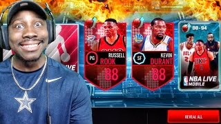 GOLDEN PLAYOFFS PACK OPENING & NEW PLAYERUP ELITES! NBA Live Mobile 16 Gameplay Ep. 103