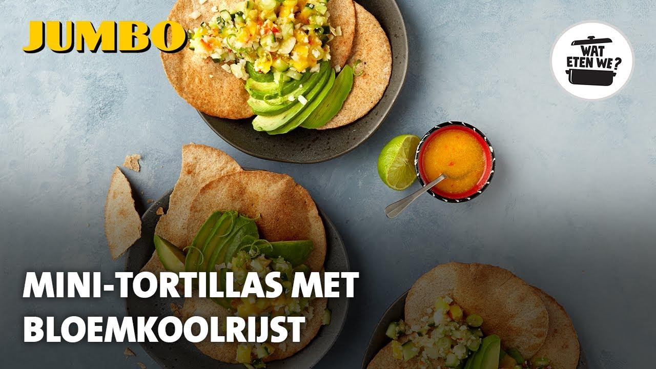 Wat eten we? Mini-tortilla's met bloemkoolrijst